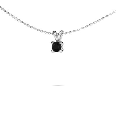 Picture of Necklace Sam round 950 platinum black diamond 0.36 crt