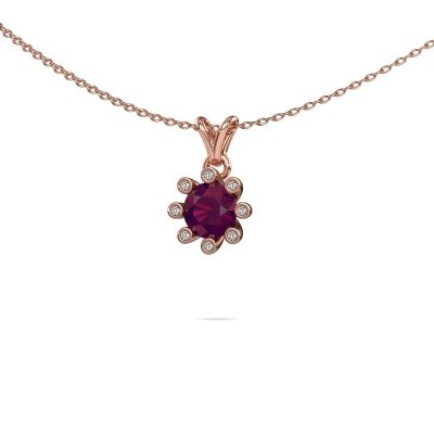 Picture of Pendant Carola 3 585 rose gold rhodolite 6 mm
