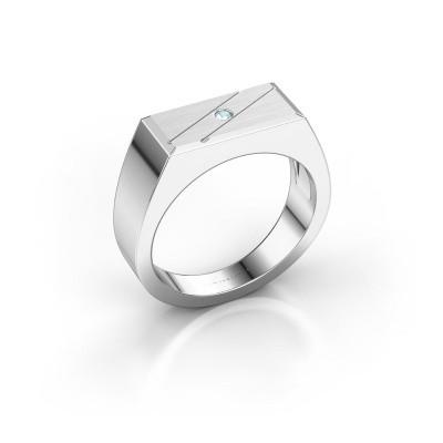 Foto van Heren ring Dree 3 925 zilver aquamarijn 2 mm