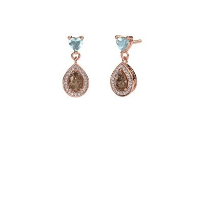 Picture of Drop earrings Susannah 375 rose gold brown diamond 1.51 crt