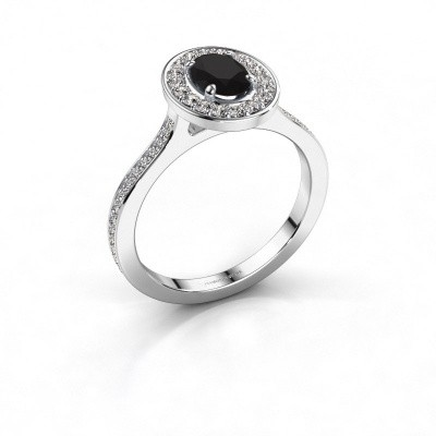 Bild von Ring Madelon 2 585 Weissgold Schwarz Diamant 1.320 crt