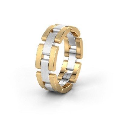 Trouwring WH2078M17BPM 585 witgoud ±7x2 mm