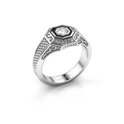 Foto van Heren ring Dion 925 zilver aquamarijn 4 mm