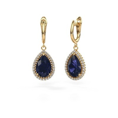 Picture of Drop earrings Hana 1 585 gold sapphire 12x8 mm