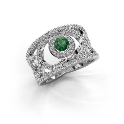 Picture of Ring Regina 585 white gold emerald 4.2 mm