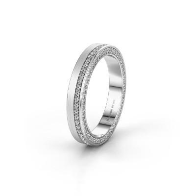 Trouwring WH2214L15BM 925 zilver diamant 0.55 crt ±5x2 mm