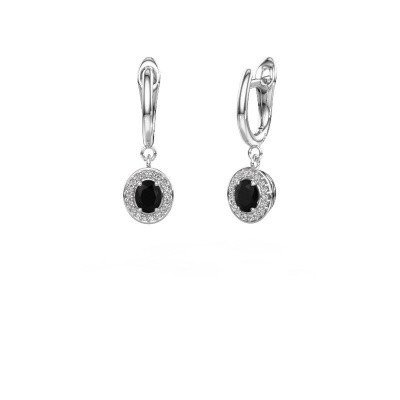 Picture of Drop earrings Nakita 585 white gold black diamond 1.02 crt
