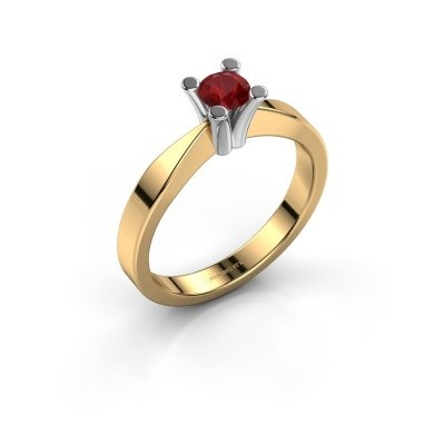 Foto van Verlovingsring Ichelle 1 585 goud robijn 4.2 mm