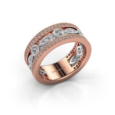 Foto van Ring Jessica 585 rosé goud lab created 0.864 crt