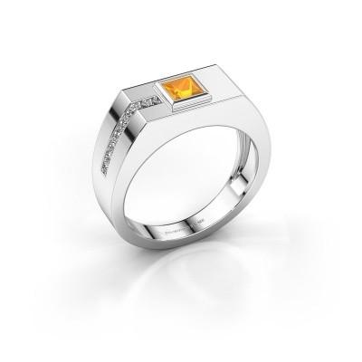 Foto van Heren ring Robertus 1 950 platina citrien 4 mm
