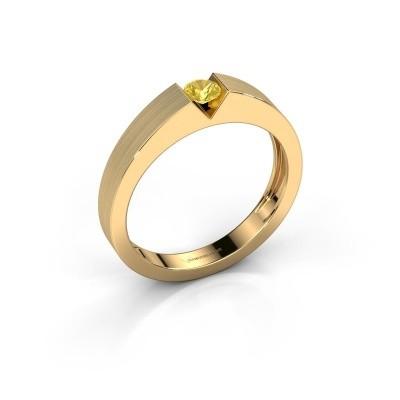 Foto van Verlovingsring Lizzy 1 750 goud gele saffier 3.7 mm