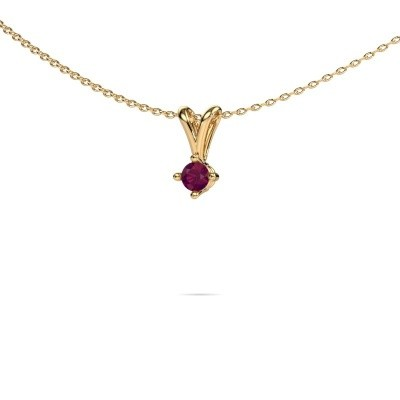 Picture of Necklace Jannette 375 gold rhodolite 3.7 mm
