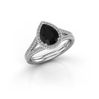 Bild von Verlobungsring Elenore 2 585 Weissgold Schwarz Diamant 1.527 crt