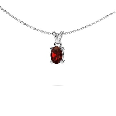 Picture of Necklace Lucy 1 950 platinum garnet 7x5 mm