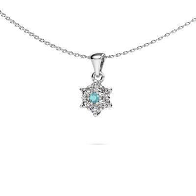 Picture of Necklace Chantal 950 platinum blue topaz 2.4 mm