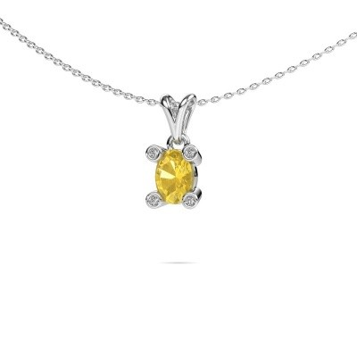 Picture of Necklace Cornelia Oval 950 platinum yellow sapphire 7x5 mm