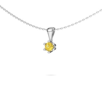 Picture of Necklace Fay 950 platinum yellow sapphire 4 mm
