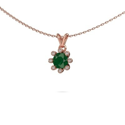 Picture of Pendant Carola 3 585 rose gold emerald 6 mm