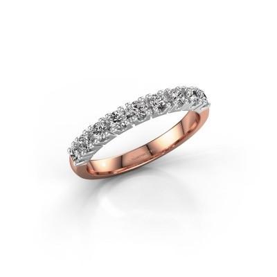 Foto van Aanzoeksring Rianne 9 585 rosé goud diamant 0.495 crt