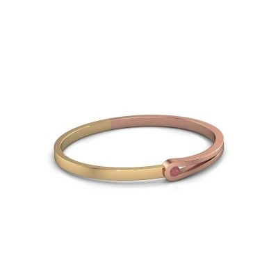 Foto van Slavenarmband Kiki 585 rosé goud robijn 4 mm