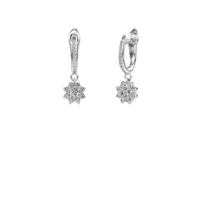 Oorhangers Camille 2 585 witgoud diamant 0.565 crt