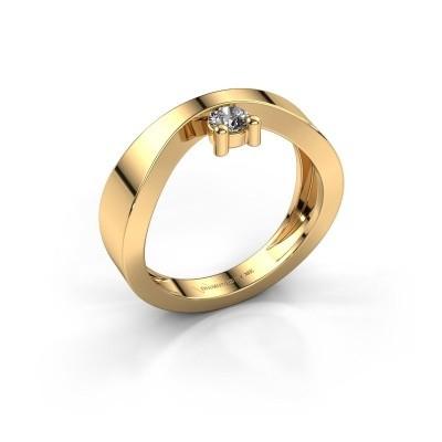 Verlovingsring Elisabeth 585 goud diamant 0.15 crt