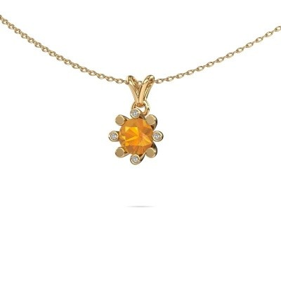 Picture of Pendant Carola 2 375 gold citrin 6 mm