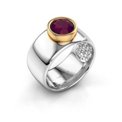 Bild von Ring Klarinda 585 Weissgold Rhodolit 7 mm