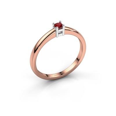 Foto van Promise ring Eline 1 585 rosé goud robijn 3 mm