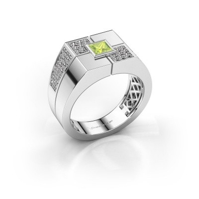Foto van Heren ring Rogier 925 zilver peridoot 4 mm