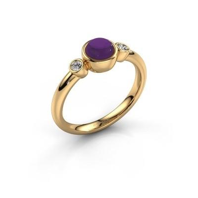 Ring Muriel 585 goud amethist 5 mm
