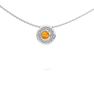 Picture of Necklace Gretta 925 silver citrin 4 mm