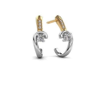 Picture of Earrings Ceylin 585 white gold diamond 0.16 crt