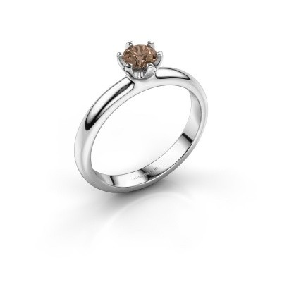 Foto van Verlovingsring Lorretta 925 zilver bruine diamant 0.40 crt