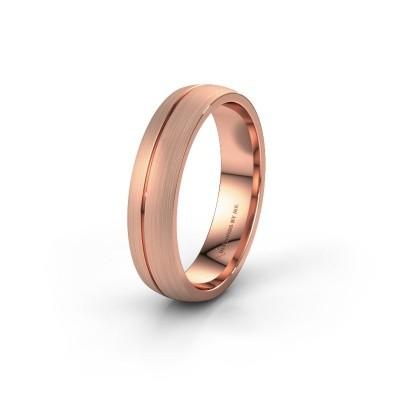Trouwring WH0166M25A 585 rosé goud ±5x1.7 mm