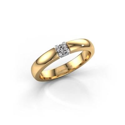 Foto van Verlovingsring Rianne 1 585 goud zirkonia 3 mm