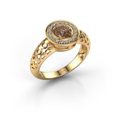 Foto van Ring Katalina 585 goud bruine diamant 0.62 crt