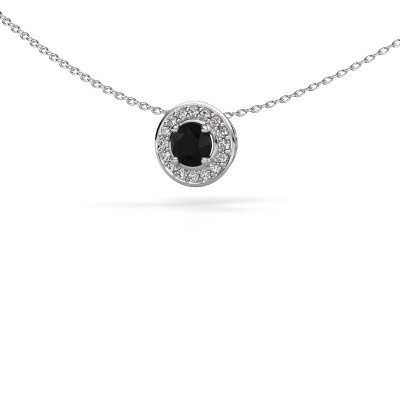Picture of Pendant Agaat 585 white gold black diamond 0.76 crt
