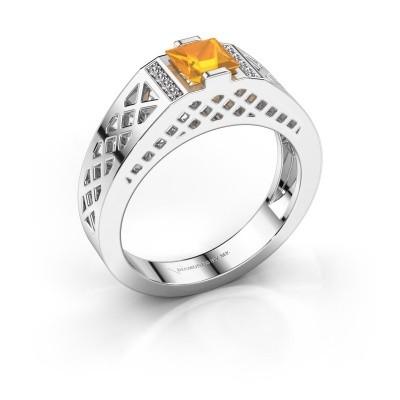 Foto van Heren ring Jonathan 950 platina citrien 5 mm