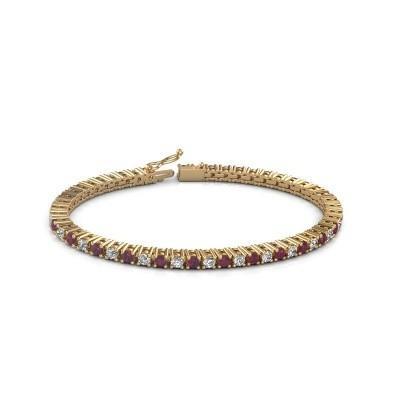Foto van Tennisarmband Petra 375 goud rhodoliet 3 mm
