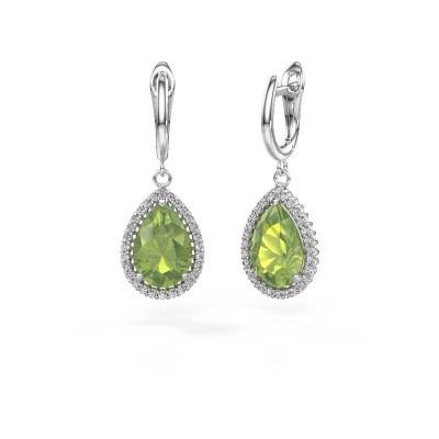 Picture of Drop earrings Hana 1 950 platinum peridot 12x8 mm