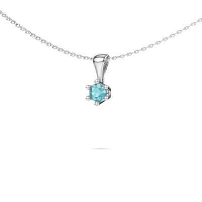 Picture of Necklace Fay 950 platinum blue topaz 4 mm