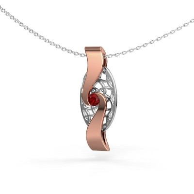 Picture of Pendant Darleen 585 rose gold ruby 3 mm