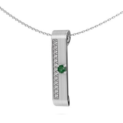 Picture of Necklace Vicki 950 platinum emerald 3 mm