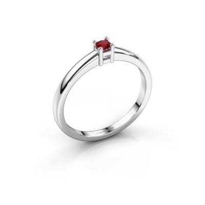 Foto van Promise ring Eline 1 585 witgoud robijn 3 mm