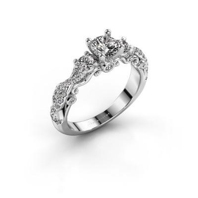 Foto van Verlovingsring Kourtney 585 witgoud diamant 1.056 crt