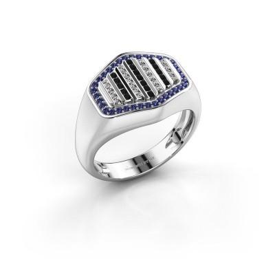 Foto van Heren ring Beau 950 platina saffier 1 mm