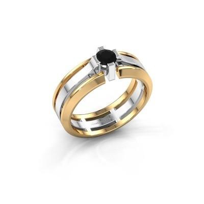 Foto van Heren ring Sem 585 witgoud zwarte diamant 0.48 crt