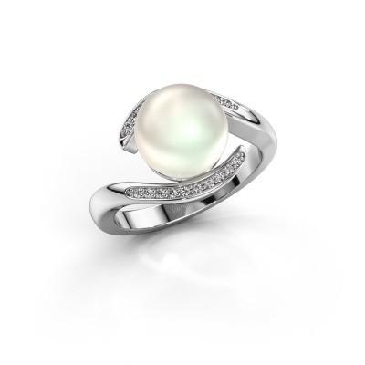 Foto van Ring Dedra 585 witgoud witte parel 9 mm