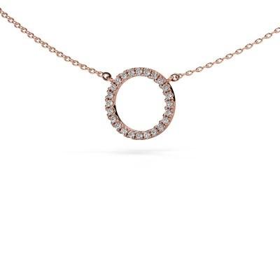 Foto van Hanger Circle 375 rosé goud diamant 0.18 crt